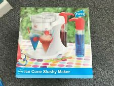1 X NEO ICE CONE SLUSHY MAKER WITH EXTRA STRAWS, CUPS & SYRUPS USED