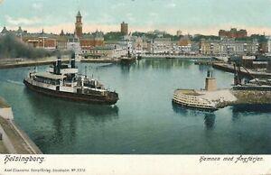 HELSINGBORG - Hamnen med Angfarjan - Sweden - udb (pre 1908)