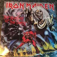 LP Iron Maiden - The Number Of The Beast 1982 UK 1st PRESS VINYL EMC 3400 VG+/VG