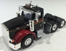 Herpa Promotex 1/87 Peterbilt 367 Black And Red Tractor Trailer Truck Cab
