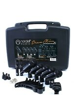 Nordell Drum Microphones Set 7 Piece Mic Kit, 5 Rim Clips + Case #310