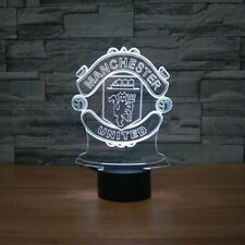 LED Table Lamp Gift 3D MANCHESTER UNITED Football Night Light 7 Color Change