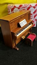 Miniature Dollhouse Piano With Stool 1:12 Scale New