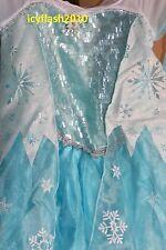 Disney store Authentic Frozen Elsa Costume Dress size 7/8