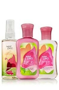 Bath & Body Works Sweet Pea Travel Trio  - Body Mist/Lotion/Shower Gel