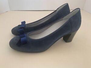 Vitaform Comfort Shoes Blue Suede 5H. BNWOT