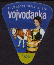 "SERBIA 2013 - triangle cheese LABEL ""Vojvodjanka"""