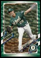 2021 Topps Series 1 Base Green #329 Mike Minor /499 - Oakland Athletics
