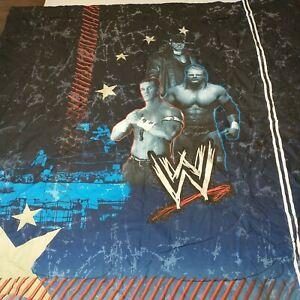"""WWE 2008 World Wrestling Entertainment  FULL Comforter 78"""" x 86"""" Reversible"""
