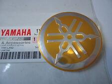 Yamaha Classic Vintage Metal Tank Emblem Badge 55mm GOLD/SILVER