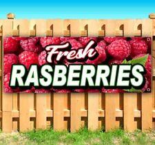 New Listingfresh Raspberries Advertising Vinyl Banner Flag Sign Many Sizes Fruit Food