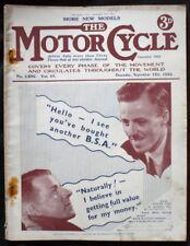 MOTOR CYCLE MAGAZINE 12 SEPT 1935 - NEW MODELS, NEW IMPERIAL, FRANCIS BARNETT