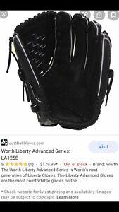 Worth Liberty Advanced LA125 Fastpitch Softball Glove LHT