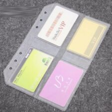 A5 Plastic Business Credit Name Card Holder Insert Refill Note Organiser 8 Slots
