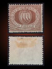 1877 SAN MARINO COAT OF ARMS 30 CENTESIMI BROWN MINT NO GUM SCOTT  15 , MICHEL 4