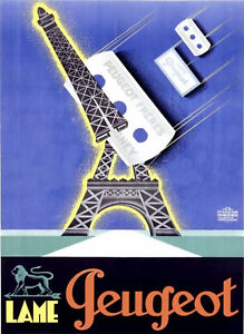 Vintage French Peugeot Brothers Poster 13 x 18 Giclee Print