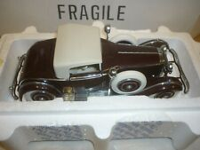 A Franklin mint scale model of a 1925 Hispano Suiza Keliner H6B, body,  boxed