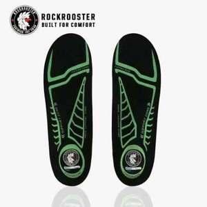 ROCKROOSTER Memory Foam Insole Arch Support for Men Women Shoe Inserts Cushion