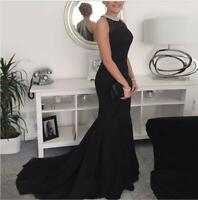 Womens Bodycon Formal Evening Party Ball Prom Gown Cocktail Mermaid Long Dress