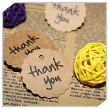 """100Pcs/Set Party Supplies Round Shape """"thank you"""" Gift Paper Label Tags Cards"""