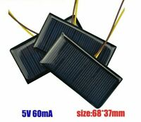 2pcs Mini Solar Panel 5V 60mA 3.6V Battery Sun Cell Polycrystalline Photovoltaic