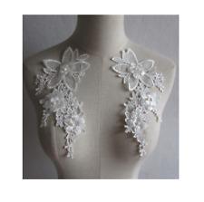 1 Paar 3D Zierapplikationen Spitze Verzieren Aufnäher Hochzeit Blumen Stickerei