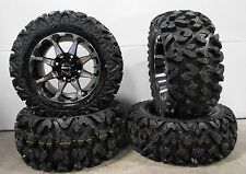 "STI HD6 14"" Wheels Machined 26"" Rip Saw Tires Sportsman RZR Ranger"