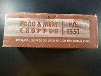 Vintage Manual Operation Universal Food Chopper and Meat Grinder No. 1551