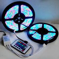 5M 3528 SMD RGB 600LEDs LED Strip Lights Lamp 24Key IR remote Controller fc