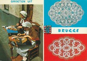Belgium Postcard - BRUGGE, Lace Makers, Laces, Crafting