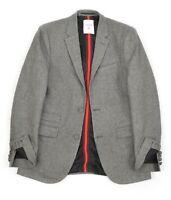 Mens ERDEM x H&M Wool Blazer Jacket Grey Herringbone Slim Size EU48 UK38