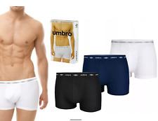 3 PACK Umbro Boxershorts Herren Unterwäsche Baumwolle verschiedene Muster UIB701