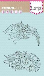 Studio Light Basic Clear Stamps - Spiral Flowers 1 - STAMPSL260 - Cardmaking