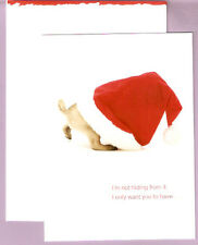 Pug in a Santa Hat Christmas Cards - Box of 12