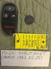KOBUTAH2T ACURA TL OEM KEYLESS ENTRY REMOTE FOB 1983102297 Transmitter NEW BATT