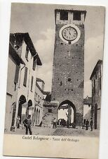 CARTOLINA 1910 CASTEL BOLOGNESE TORRE DELL' OROLOGIO RIF 9282