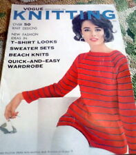 RARE VTG 1960s VOGUE KNITTING BOOK 1962 *50 Designs to Knit* Hats Dresses Stoles