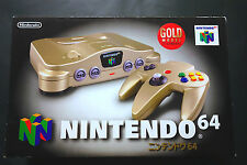 NINTENDO 64 GOLD Toys'r US LIMITED System JAPAN Very.Good.Condition !