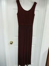 Cache  Sleeveless Knit Stretch Puckered top Pull-on Burgundy Romper Jumpsuit M