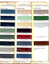 1946 1947 1948 CHRYSLER IMPERIAL NEW YORKER SARATOGA PAINT CHIPS 4748 ACME
