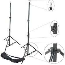 Kit 2x Trépied Pied Studio Photo Video Flash 3mt 300cm Support Aluminium + Sac