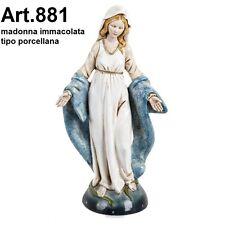 Statua religiosa FONTANINI madonna immacolata cm 30 tipo porcellana arte sacra