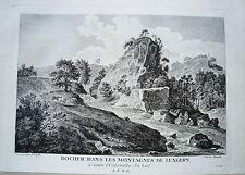 Lungern Kanton Obwalden  Schweiz Kupferstich von Zurlauben 1780