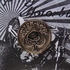 Schmuck Bronze Kennzeichenschraube Zierschraube Ton up für Motorrad Kutte Spade
