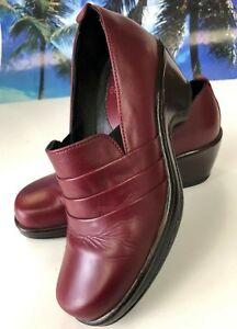 Dansko Pro Women's Tenley Slip On Shoes Clogs Leather Burgundy 36/5.5-6 GUC