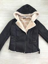 Zara black faux leather jacket size L but more a size S/M