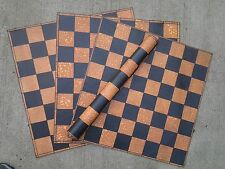 "Roll up premium leather chess board  2"" Squares"