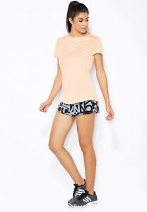 Adidas Women's Climalite Grey/Black Printed Premium Running Shorts Size L AJ4850