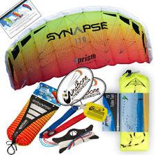 Prism Synapse 170 Mango Foil Power Stunt Kite 2-Line Straps + 75 foot Tube Tail