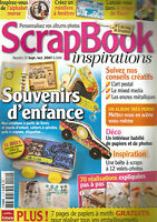 SCRAPBOOK INSPIRATIONS N°10 SOUVENIRS D'ENFANCE / 70 REALISATIONS EXPLIQUES